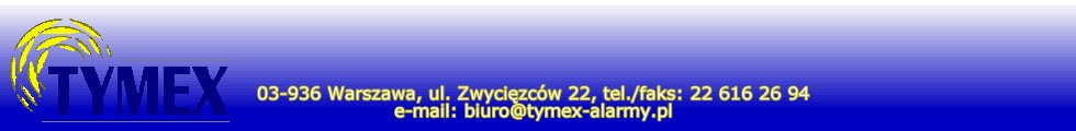 Alarmy samochodowe Tymex